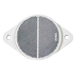 White reflector | 78 x 5.5mm | screw mounting