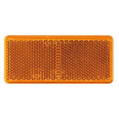 Amber reflector 90 x 40mm   3m-adhesive strip