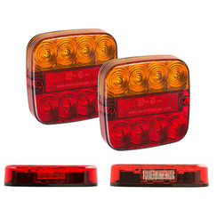 Rem/achterlicht/richtingaanwijzer/reflector met kentekenverlichting
