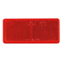 Red reflector 90 x 40mm | 3m-adhesive strip