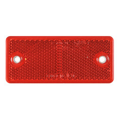 Red reflector 90 x 40mm with screw mounting