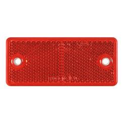Rode reflector 90 x 40mm met schroefbevestiging
