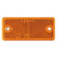 Amber reflector 90 x 40mm schroefbevestiging