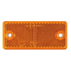 Amber reflector 90 x 40mm screw fastening