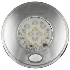 LED Innenraumleuchte inkl. Chrom Schalter 12v. Warmweiẞ