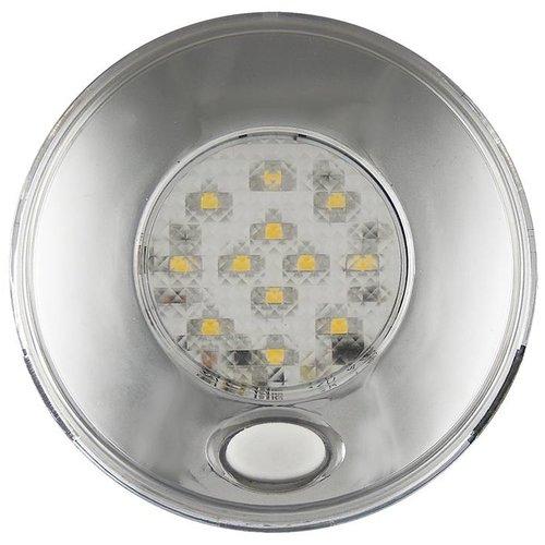 LED interieurverlichting incl. schakelaar chroom  12v. warm wit