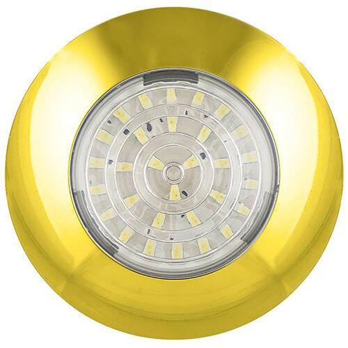 LED interieurverlichting goud  12v. koud wit licht