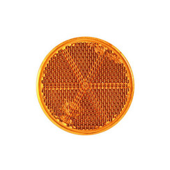Amber reflector | 60 x 5,5mm | 3m-adhesive strip