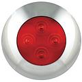 LED Autolamps  LED interieurverlichting rood, chromen rand | 12v