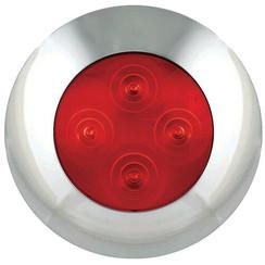 LED interieurverlichting rood, chromen rand | 12v