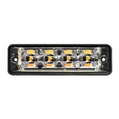 Ultra-flache Slimline LED-Blitz 4 LEDs rot | 10-30V |