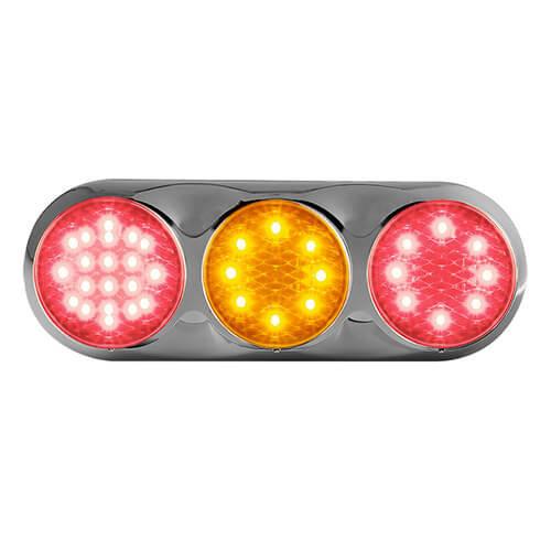 Combination LED light | 12v | color | 30cm. cable (color + chromium)