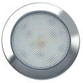 LED Autolamps  Ultraplatte LED interieurverlichting chroom  12v warm wit