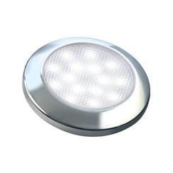 Ultraplatte LED interieurverlichting chroom  12v warm wit