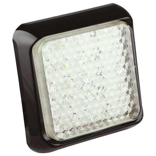 LED Autolamps  LED achteruitrijlamp met zwarte rand  | 12-24v | 40cm. kabel