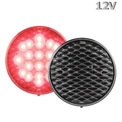 LED Fog 12v clear lens 30cm. cable