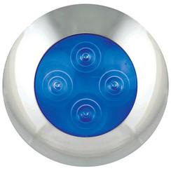 LED interieurverlichting blauw, chromen rand  12v