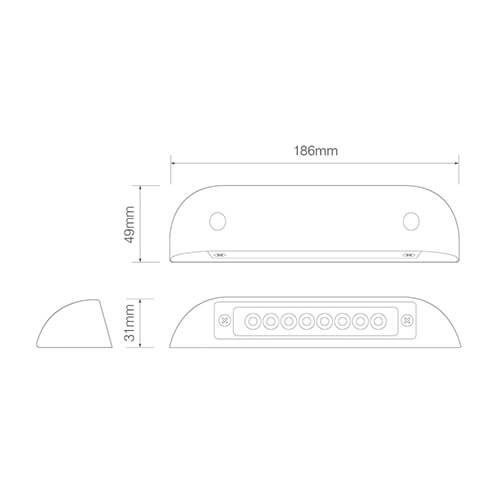 LED Autolamps  LED Interieur instapverlichting warm wit  12v