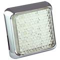 LED achteruitrijlicht met chromen rand  | 12-24v | 40cm. kabel