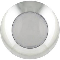 LED interieurverlichting chroom/melkglas | 12v. koud wit licht