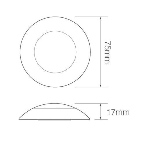 LED interieurverlichting chroom/melkglas | 12v | koud wit licht