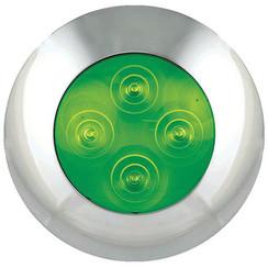 LED Innenraumleuchte grün, Chromkante 12v