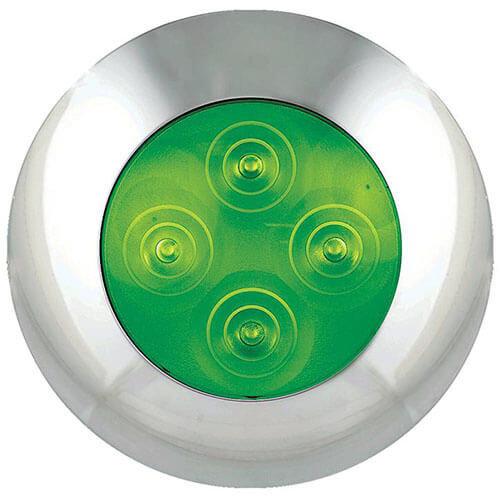LED Autolamps  LED interieurverlichting groen, chromen rand  12v