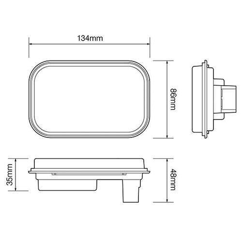 LED mistlicht inbouw   12-24v   zonder kabel