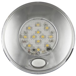 LED interieurverlichting incl. schakelaar chroom 24v. warm wit