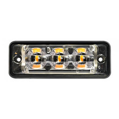 Ultra flat Slimline LED Flash 3 LEDs Red | 10-30V |