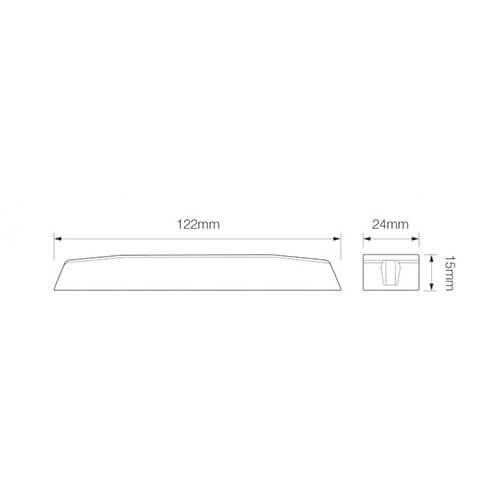 R65 Slimline LED Flitser 6 LED's Blauw   10-30v  