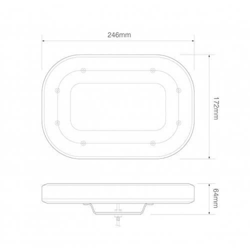 Compacte R65 minibar  | 12-24v | vaste montage