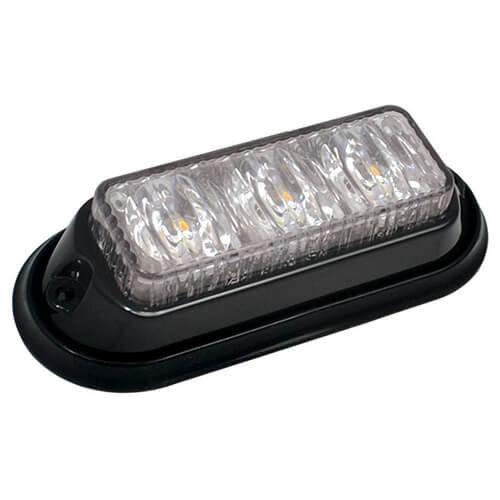 ElectraQuip  R65 LED Flitser 3 LED's Amber   12-24v  