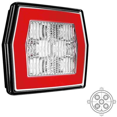 LED achteruitrijlicht met achterlicht   12-24v   5 PIN's aansluiting
