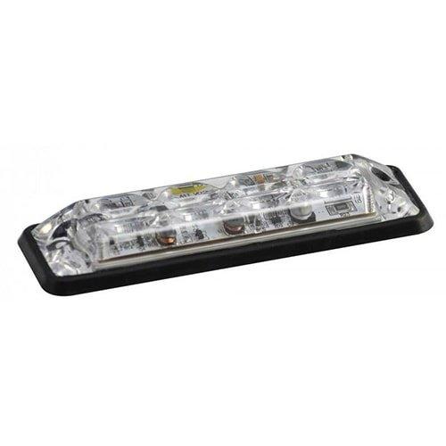 Ultra platte Slimline LED Flitser 4 LED's Wit   10-30v  