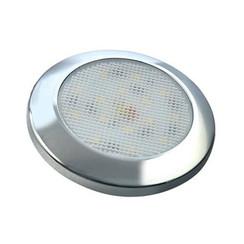 Ultraplatte LED interieurverlichting chroom 24v koud wit