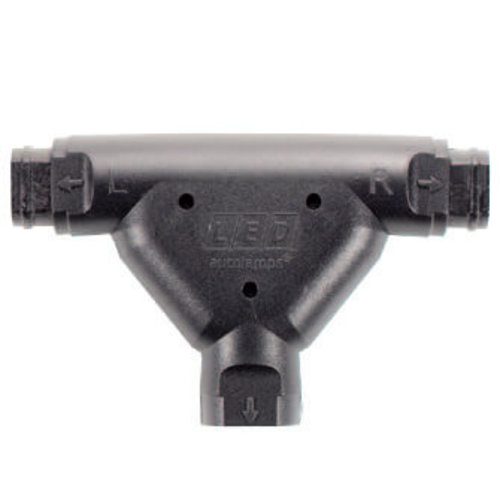 LED Autolamps  T-plug (koppelstuk) hoofd chassis & verlichtings kabel