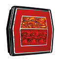 Compact LED rear light without license plate light | 12-36V | 5 pins
