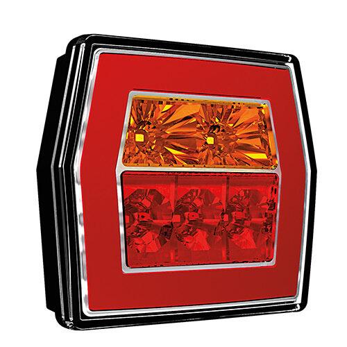 LED compact achterlicht zonder kentekenverlichting  | 12-36v | 5 pins
