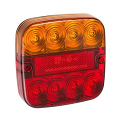 Compact LED rear light with license plate light | 12-24v | 50cm. cable