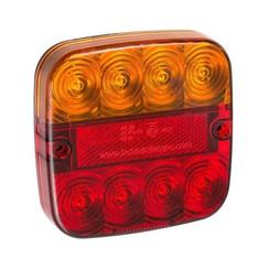 LED compact achterlicht met kentekenverlichting  | 12-24v | 50cm. kabel