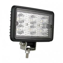 LED LA Werklamp | 6 watt | 720 lumen | 12-24v | Floodbeam Zwart