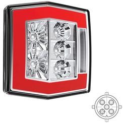 Kompakte LED-Rücklicht mit Kennzeichenbeleuchtung | 12-36V | 5 Pins
