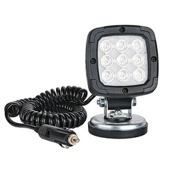 LED Work light | 1700 lumen magn. foot | 12-24v | 7.8m coiled cable