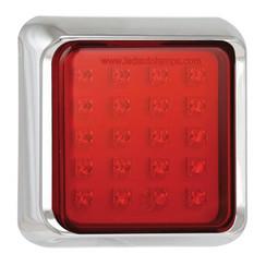 LED fog light with chrome rim | 12-24v | 40cm. cable