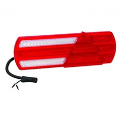 Links Slimline LED-Rücklicht | 12-24V | 120cm. Kabel | 6 PIN-Anschluss