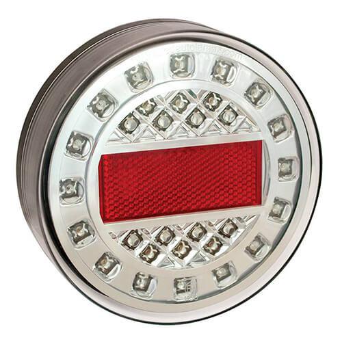 LED mistlicht in chroomlook  | 12-24v | 40cm. kabel