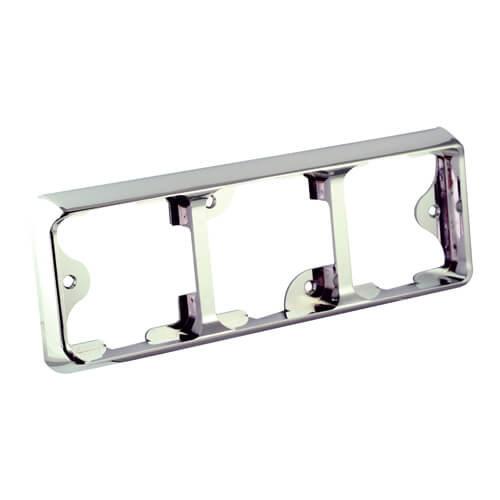 LED Autolamps  Drievoudige chromen omlijsting t.b.v. 100 Series