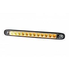 Dynamic LED flashing slimline | 12-24v | 100cm. cable