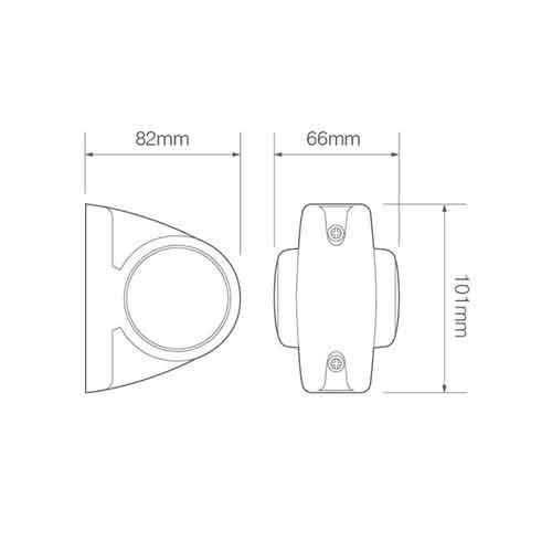 LED breedtelamp,  | 12-24v | 2 pin's connector